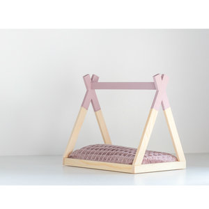 Project Dollhouse Poppenhuis Tipi Bed Open Model Oud Roze
