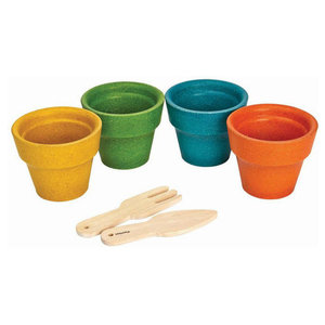 Plan Toys Flower Pot Set 4-delig