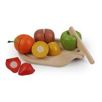 Houten Fruit Set