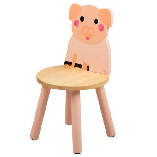 Tidlo Houten Kinderstoel Varken