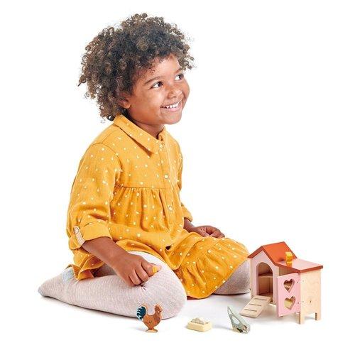 Tender Leaf Toys Poppenhuis Huisdierenset Kippenren