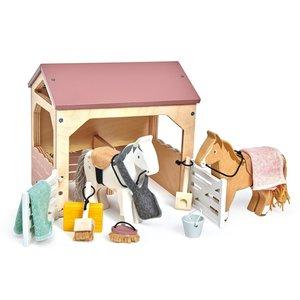 Tender Leaf Toys Huisdierenset Stal met Pony's