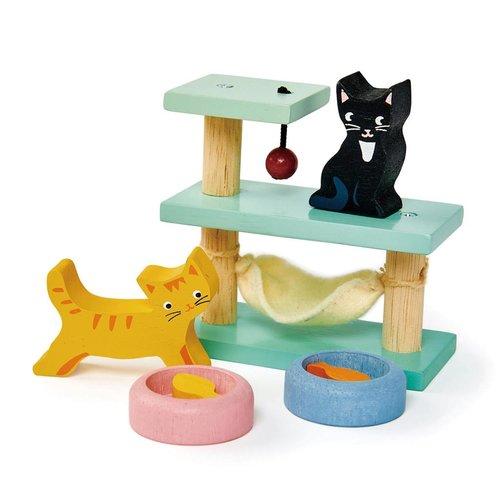 Tender Leaf Toys Poppenhuis Huisdierenset Katten