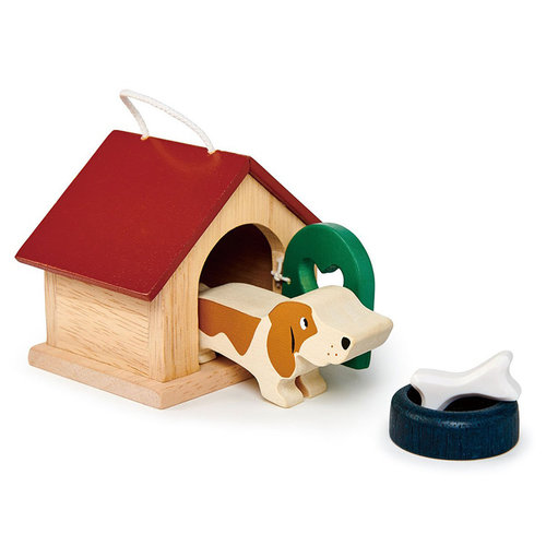 Tender Leaf Toys Poppenhuis Huisdierenset Hond