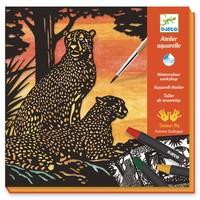 Aquarel Jungledieren