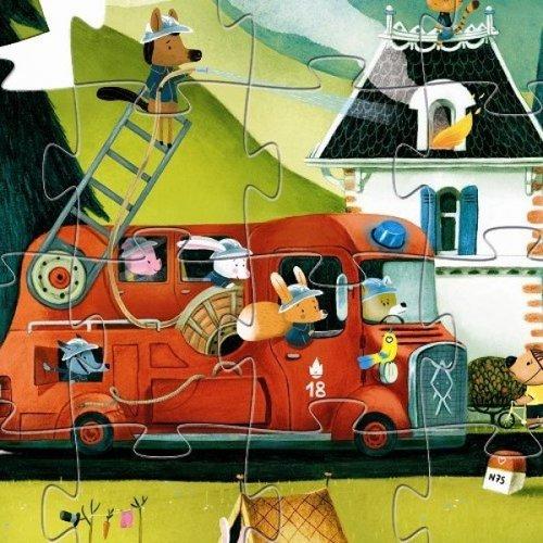 Djeco Puzzel Brandweerwagen