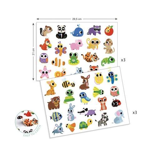 Djeco Stickers Babydieren - 120 st
