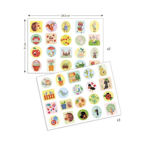 Djeco Stickers Tuin - 120 st
