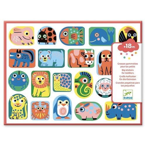 Djeco Stickers Dieren in Vorm - 114 st