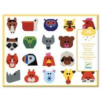 Stickers Dieren Hoofden - 120 st