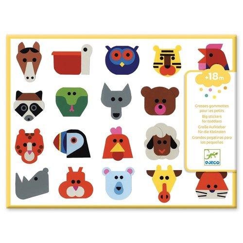 Djeco Stickers Dieren Hoofden - 120 st
