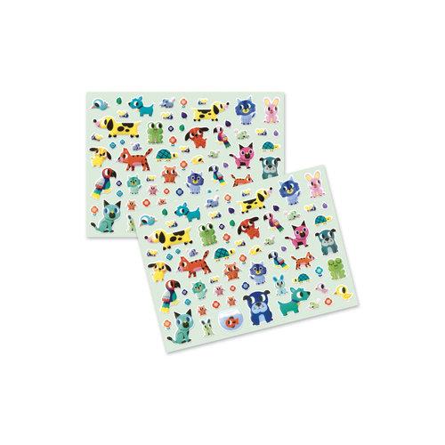 Djeco Dikke Stickers Dieren Vriendjes - 134 st