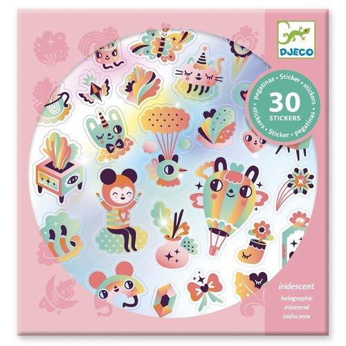 Djeco Stickers Regenboog - 30 st