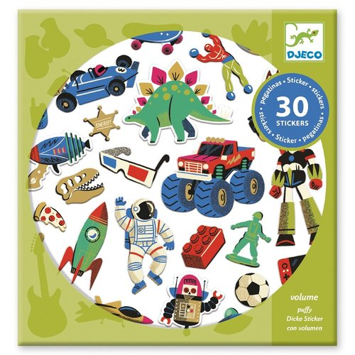 Djeco Stickers Retro Toys - 30 st