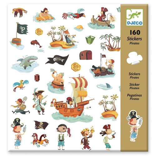 Djeco Stickers Piraten - 160 st