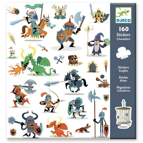 Djeco Stickers Ridders - 160 st