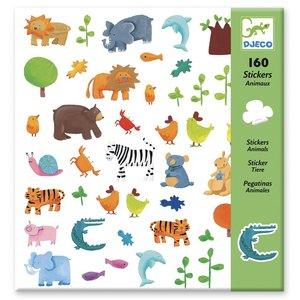 Djeco Stickers Dieren - 160 st