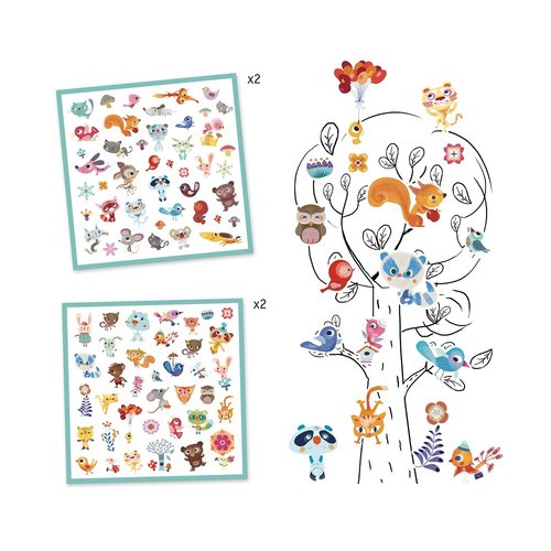 Djeco Stickers Kleine Dieren - 160 st