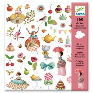 Djeco Stickers Prinsessen Theekransje - 160 st