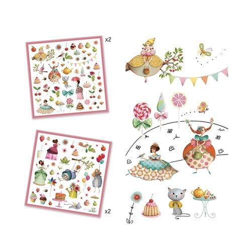 Djeco Stickers Prinsessen Theekransje- 160 st
