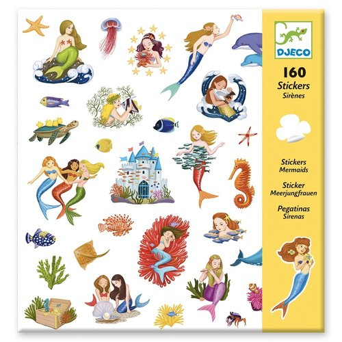 Djeco Stickers Zeemeerminnen - 160 st