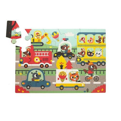 Petit Monkey Puzzel On the Road 24st
