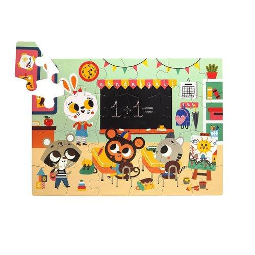 Petit Monkey Puzzel At School 24st