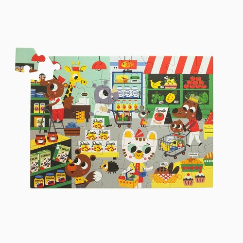 Petit Monkey Puzzel In the Supermarket 48 st