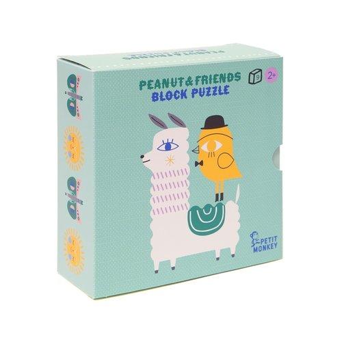Petit Monkey Peanut & Friends Blokken Puzzel