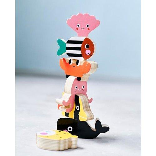 Petit Monkey Houten Stapel Diertjes Oceaan