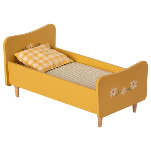 Maileg Houten Bed Mini - Geel