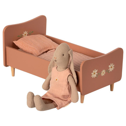 Maileg Houten Bed Mini - Roze