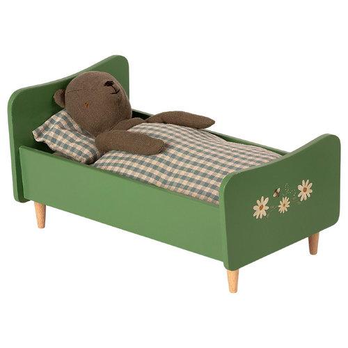 Maileg Houten Bed - Teddy Beer Vader - Groen
