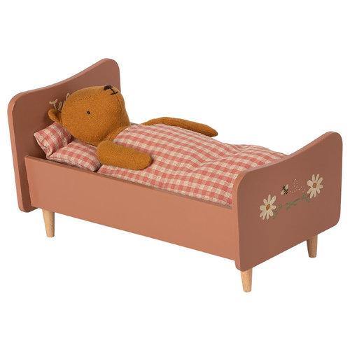 Maileg Houten Bed - Teddy Beer Moeder - Roze