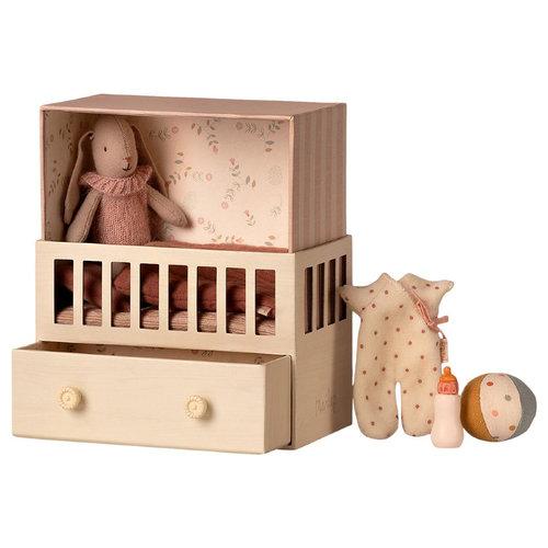 Maileg Baby kamer - micro konijn meisje