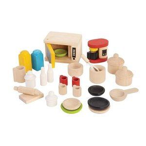 Plan Toys Poppenhuis Keuken Accessoires