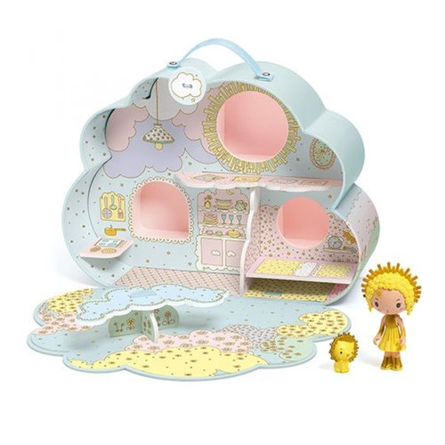Djeco Tinyly Draagbaar Poppenhuis Sunny & Mia