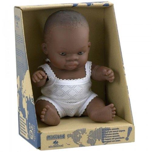 Miniland Babypop Meisje Donker - 21 cm