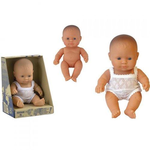 Miniland Babypop Meisje Blank - 21 cm