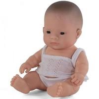 Babypop Jongen Aziatisch - 21 cm