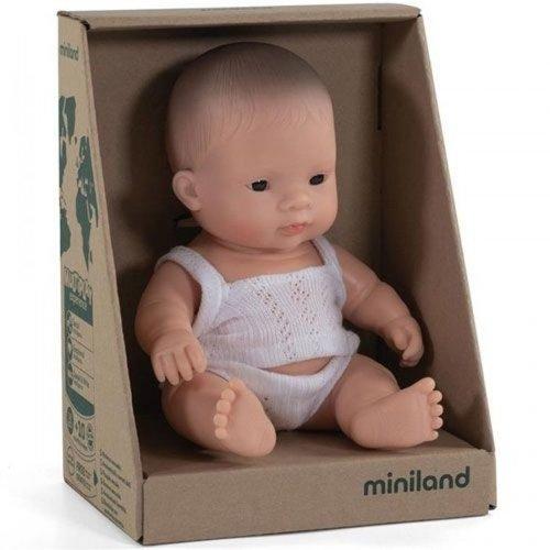 Miniland Babypop Jongen Aziatisch - 21 cm