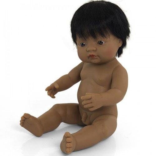 Miniland Babypop Jongen Getint - 38 cm