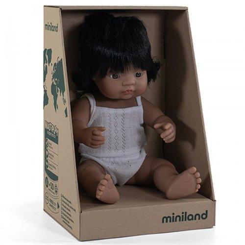Miniland Babypop Meisje Getint - 38 cm