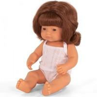 Babypop Meisje Rood Haar - 38 cm