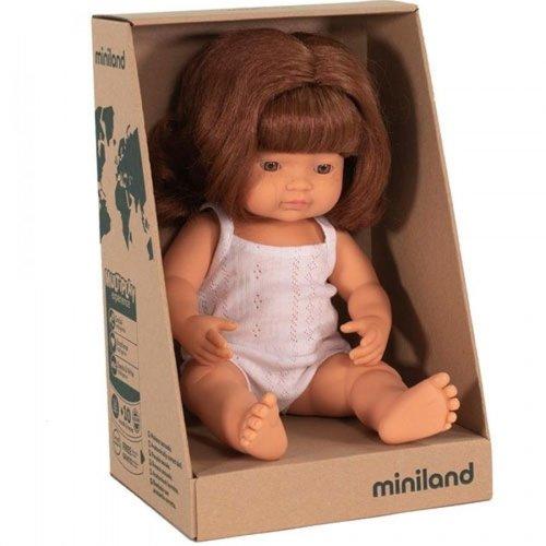 Miniland Babypop Meisje Rood Haar - 38 cm