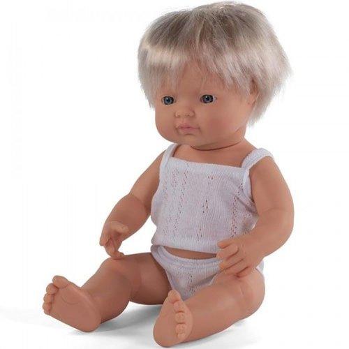 Miniland Babypop Jongen Blank - 38 cm