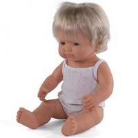Babypop Meisje Blank - 38 cm
