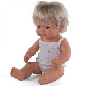 Miniland Babypop Meisje Blank - 38 cm