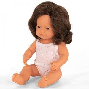 Miniland Babypop Meisje Bruin Haar - 38 cm