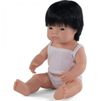 Babypop Jongen Aziatisch - 38 cm